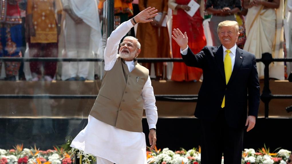 'Namastè Trump', US president in India
